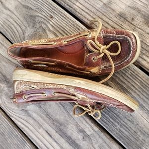 Sperry Top-Siders womens brown copper size 8